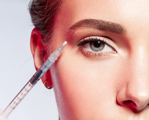 Chemical eyebrow lifting